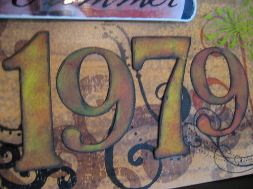 inked chipboard numbers